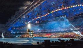 Cérémonie d'ouverture de Jeux Olympiques de Sotchi 2014 Photo libre de droits