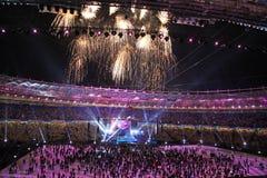 Cérémonie d'ouverture de stade olympique Images libres de droits