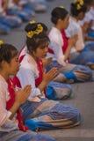 Cérémonie d'ouverture Loy Krathong et Yee Peng Festival en Chiang Ma Images libres de droits