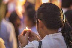 Cérémonie d'ouverture Loy Krathong et Yee Peng Festival en Chiang Ma Image stock