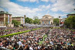 Cérémonie d'Université de Columbia Images libres de droits