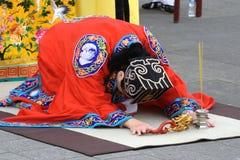 Cérémonie de bénédiction de dragon Image stock