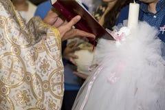 Cérémonie de baptême Photos libres de droits