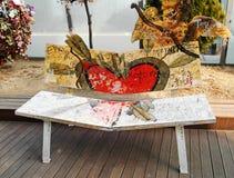 Cérémonie de chaise d'amour Images libres de droits