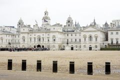 Cérémonie de défilé de dispositifs protecteurs de cheval de Londres Photos libres de droits