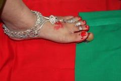 Cérémonie de fête de naissance - Inde images stock