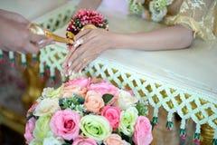 Cérémonie de fiançailles de mariage de la Thaïlande Images libres de droits
