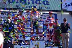 Cérémonie de gagnants au championnat d'essai national espagnol 2018 Photos stock