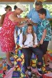 Cérémonie de Haircutting dans le cuisinier Islands de Matavera Rarotonga Photo libre de droits