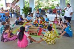 Cérémonie de Haircutting dans le cuisinier Islands de Matavera Rarotonga Photos stock