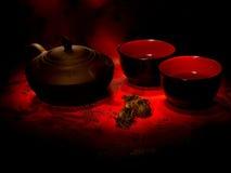 Cérémonie de l'utilisation du thé Photographie stock libre de droits