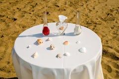 Cérémonie de mariage de sable Photographie stock