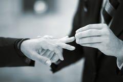 Cérémonie de mariage gaie de LGBT Image stock