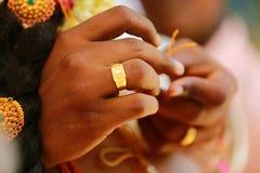 Cérémonie de mariage indienne indoue Photo libre de droits