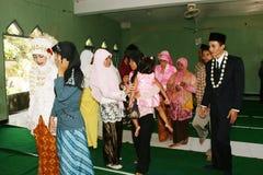 Cérémonie de mariage musulmane images stock