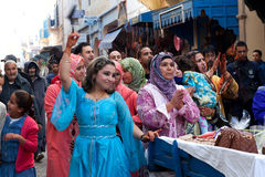Cérémonie de mariage musulmane, Maroc Photos libres de droits