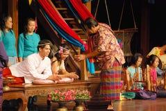 Cérémonie de mariage thaïlandaise Photographie stock libre de droits