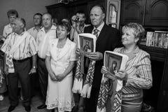 Cérémonie de mariage ukrainienne traditionnelle Photos libres de droits