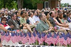Cérémonie de naturalisation de Jour de la Déclaration d'Indépendance Photos stock
