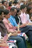 Cérémonie de naturalisation de Jour de la Déclaration d'Indépendance Photographie stock