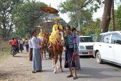 Cérémonie de Novitiation dans Myanmar Photos stock