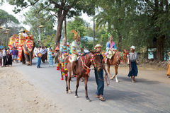 Cérémonie de Novitiation dans Myanmar Image stock