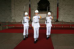 Cérémonie de passation de soldats de zhongzhengtang de Taïpeh Images libres de droits