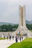 Cérémonie de respect à la tour commémorative Hyeonchungtap Le cimetière national de Daejeon, Corée du Sud, 25 peut 2016 images libres de droits