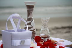 Cérémonie de sable sur la plage Photos stock