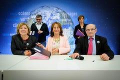 Cérémonie de signatures de contrats Territoires à Energie Positive pour la Croissance et Territoires Zéro Déchet Zéro Gaspil Stock Image
