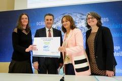 Cérémonie de signatures de contrats Territoires à Energie Positive pour la Croissance et Territoires Zéro Déchet Zéro Gaspil Stock Images