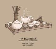 Cérémonie de thé Illustration de Vecteur