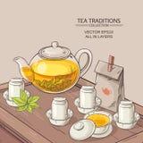 Cérémonie de thé Illustration Stock
