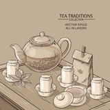 Cérémonie de thé Illustration Libre de Droits