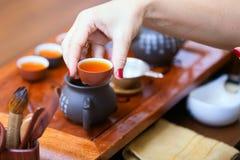 Cérémonie de thé chinoise Image libre de droits