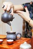 Cérémonie de thé chinoise Photographie stock