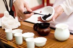 Cérémonie de thé chinoise Photos libres de droits