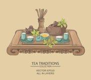 Cérémonie de thé chinoise Illustration Libre de Droits
