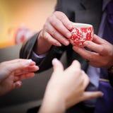 Cérémonie de thé chinoise de mariage Photographie stock libre de droits