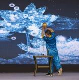 Cérémonie de thé dans Huanglongxi, Chengdu, porcelaine Images libres de droits