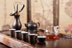 Cérémonie de thé dans le type de l'Asie Photo libre de droits