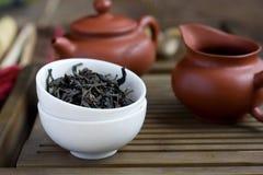 Cérémonie de thé de chinois traditionnel Image libre de droits