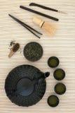 Cérémonie de thé de Sencha de Japonais Photos libres de droits