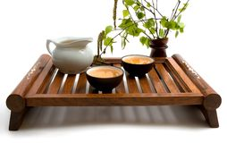Cérémonie de thé vert photo stock
