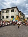 Cérémonie en quelques jours d'échantillon de vin en Greve dans le chianti, Toscane en Italie photo libre de droits