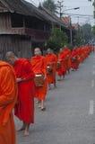 Cérémonie laotienne traditionnelle de moine image libre de droits