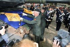 Cérémonie militaire - Hollandes Photographie stock