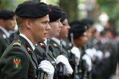 Cérémonie militaire - Hollandes Photo libre de droits