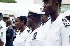 Cérémonie pour de jeunes marins laissant l'académie images stock
