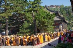 Cérémonie religieuse de bouddhisme Photos stock